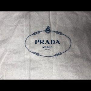 "Prada Dust Bag for Purse 15"" x 15"" Authentic NEW"